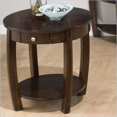 Jofran Riverside End Table in Brown Walnut