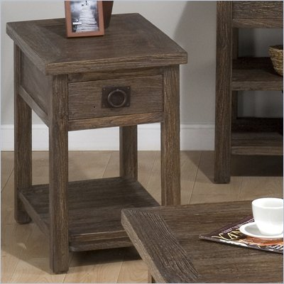 Jofran Sylvan Chairside Table in Elm