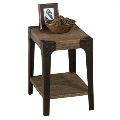 Jofran Timber Chairside Table in Elm