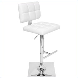 Lumisource Glamour Bar Stool in White