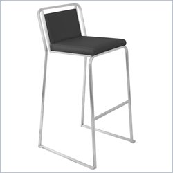 Lumisource 29.5 Cascade Bar Stool in Black