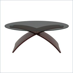 Lumisource Criss Cross Coffee Table in Wenge