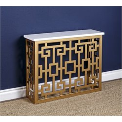 Abbyson Living Micah Console Table in Gold