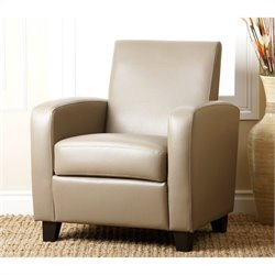 Abbyson Living Capella Faux Leather Club Chair in Gray