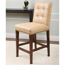 Abbyson Living Monica Pedersen 24 Leather Counter Stool in Camel
