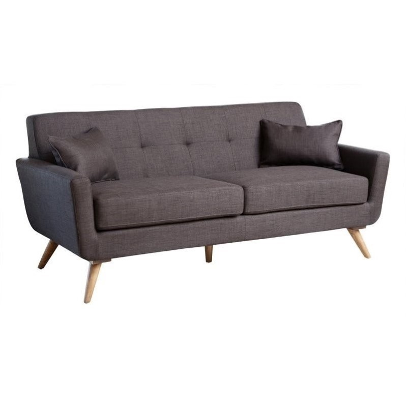 Abbyson Living Bayview Fabric Sofa in Gray