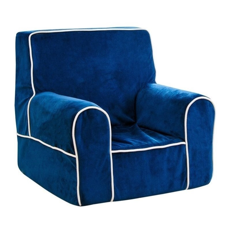 Abbyson Living Kids Baby's 1st Fabric Armchair in Navy Blue