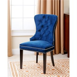 Abbyson Living Miiko Dining Chair in Navy Blue