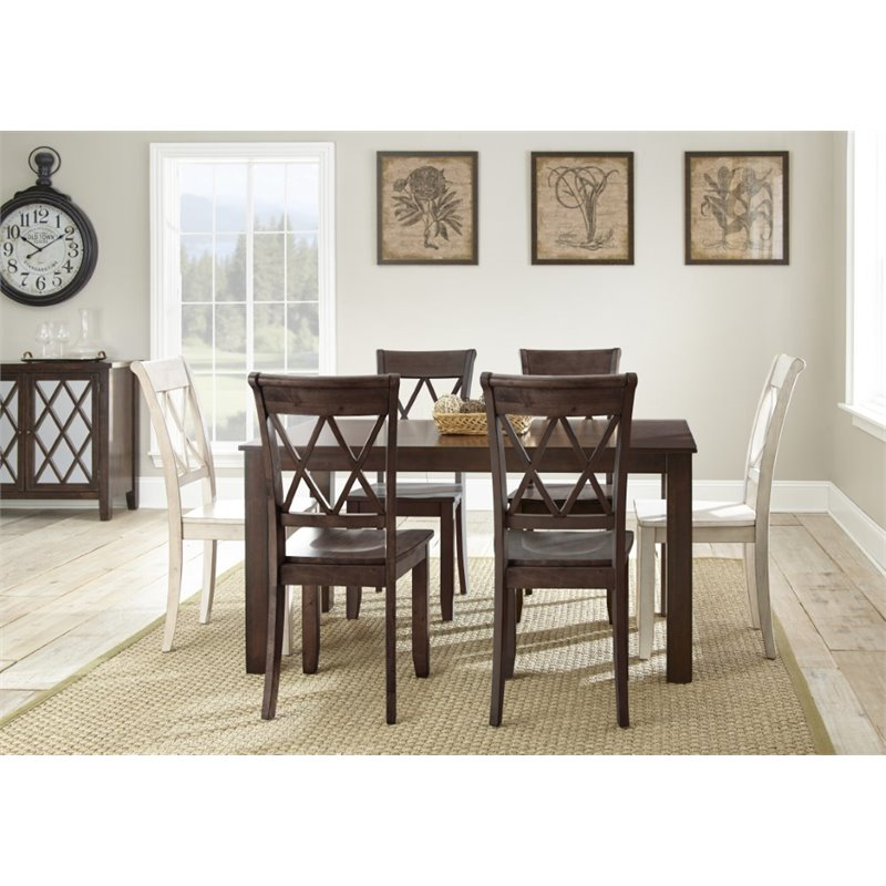 Steve Silver Aida Dining Table in Brown