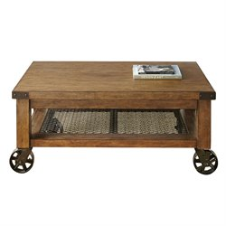 Steve Silver Hailee Coffee Table in Distressed Oak
