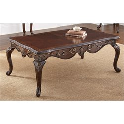 Steve Silver Lisburn Coffee Table in Cherry