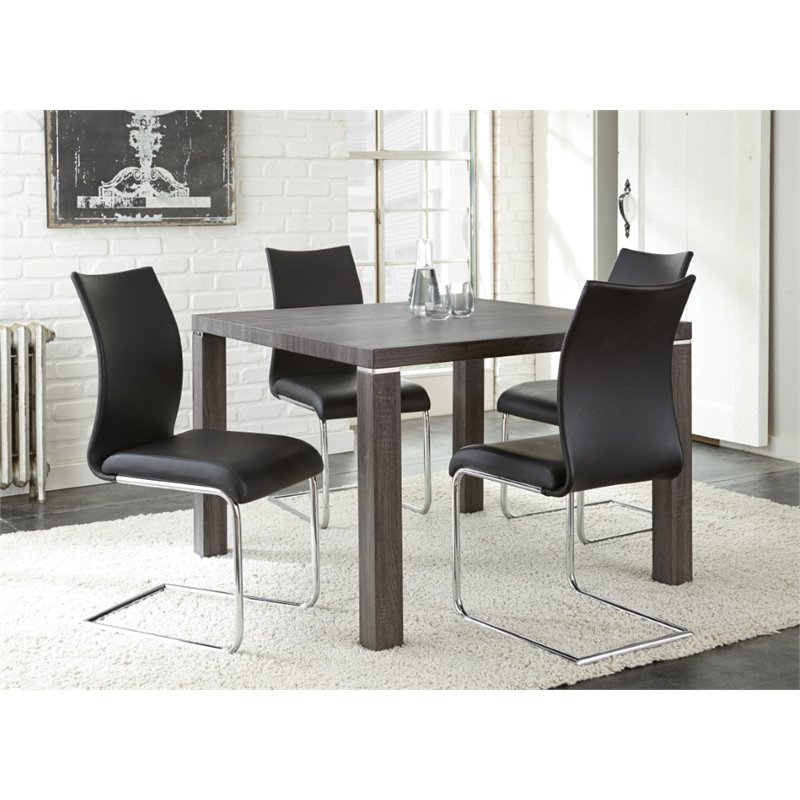 Steve Silver Randall Square Dining Table in Charcoal
