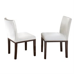 Steve Silver Tiffany Dining Chair in White