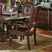 Steve Silver Company Antoinette Leather Dining Arm Chair