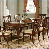 Steve Silver Company Ridgedale Formal Dining Table With 18 Leaf in Rich Cherry Finish