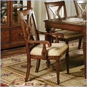 Steve Silver Company Ridgedale Fabric Dining Arm Chair in Cherry