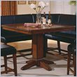 ADD TO YOUR SET: Steve Silver Company Plato Sectional Counter Height Pedestal Table in Rich Cherry Finish