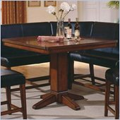 Steve Silver Company Plato Sectional Counter Height Pedestal Table in Rich Cherry Finish