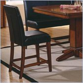 Steve Silver Company Plato 24 Counter Height Parson Chair in Black