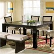 ADD TO YOUR SET: Steve Silver Company Movado Square Casual Dining Table in Merlot Finish