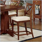 Steve Silver Company Alyssa 24 Counter Height Fabric Side Chair in Cherry