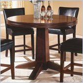 Steve Silver Company Serena Pedestal Counter Height Table in Dark Cherry Finish