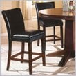 ADD TO YOUR SET: Steve Silver Company Serena Black Vinyl Counter Height Parson Chair