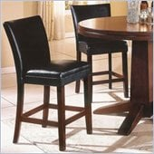 Steve Silver Company Serena Black Vinyl Counter Height Parson Chair