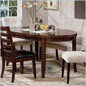 Steve Silver Company Odyssey Casual Dining Table in Mahogany and Cherry Finish