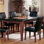 Steve Silver Company Bello Granite Casual Dining Table in Rich Cherry Finish