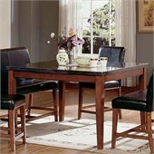 Steve Silver Company Bello Granite Counter Height Dining Table in Cherry