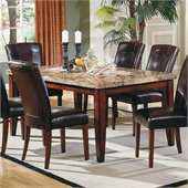 Steve Silver Company Montibello Rectangular Casual Dining Table in Rich Cherry Finish