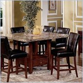 Steve Silver Company Montibello Marble Top 5 Piece Dining Set (Free Chair Included)
