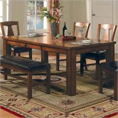 Steve Silver Company Lakewood Rectangular Casual Dining Table in Rich Oak Finish