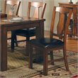 ADD TO YOUR SET: Steve Silver Company Lakewood Vinyl Dining Side Chair in Rich Oak