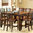 ADD TO YOUR SET: Steve Silver Company Abaco Counter Height Dining Table in Cherry and Mahogany Finish