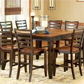 Steve Silver Company Abaco Counter Height Dining Table in Cherry and Mahogany Finish