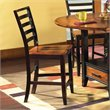ADD TO YOUR SET: Steve Silver Company Abaco Wood Counter Height Side Chair in Mahogany and Cherry