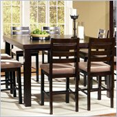 Steve Silver Company Boulevard 5 Piece Counter Height Dining Table Set in Dark Merlot (Free Chair Included)
