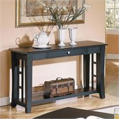 Steve Silver Company Cassidy Black Sofa Table