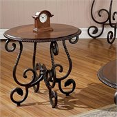 Steve Silver Company Crowley Cherry End Table