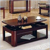 Steve Silver Company Lidya Rectangular Cherry Wood Lift-Top Coffee Table with Casters