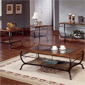 Steve Silver Company Loretta Oak Coffee Table And End Tables 3-Piece Set