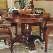 Steve Silver Company Tournament 48 Wood Round Casual Dining Table in Cherry Finish