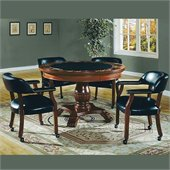 Steve Silver Company Tournament 5 Piece Dining Set with Gaming Top (Free Chair Included)