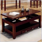 Steve Silver Company Nelson Rectangular Lift-Top Cherry or Oak Coffee Table with Casters