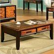 ADD TO YOUR SET: Steve Silver Company Abaco Rectangular Wood Top Coffee Table in Espresso