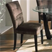 Steve Silver Company Matinee Chocolate Fabric Parson Chair