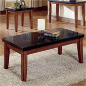 Steve Silver Company Montibello Rectangular Granite Cherry Coffee Table