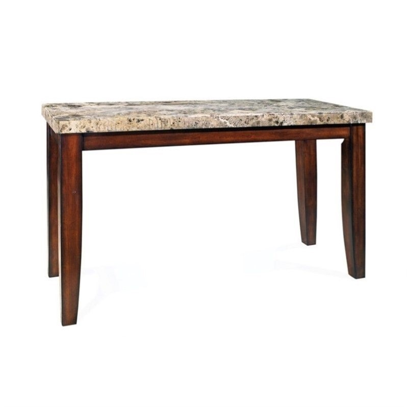 Silver Company Montibello Marble Top Casual Cherry Finish Dining Table